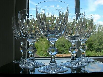 Crystalliers Lorraine - Five Cut Large Glasses - St Louis  Tommy  Style. • 68£