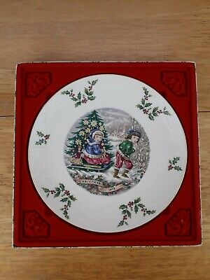 Vintage Royal Doulton 1979 Christmas Plate In Box Without Lid • 5£