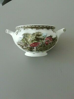 Vintage Double Handled Soup Or Possible Large Sugar Bowl?    10cms Dia 7cms High • 1.50£