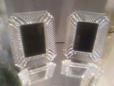 Waterford Crystal Pair Of Master Cut Mini Photo Frames • 88£