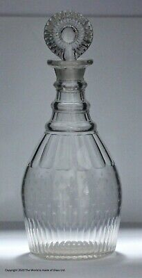 Engraved Georgian Prussian-shaped Decanter And Stopper  • 95£