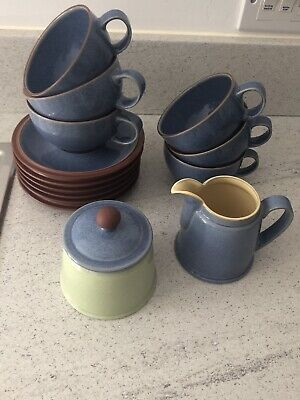 Denny Juice 6 X Cups & Saucers, Sugar Bowl And Milk Jug Good Used Condition  • 5£