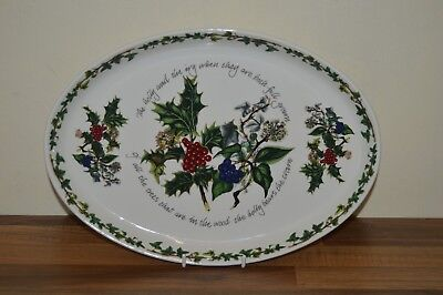 Portmeirion Holly & And Ivy 13  Oval Steak Plate / Serving Platter BNWT • 22.50£