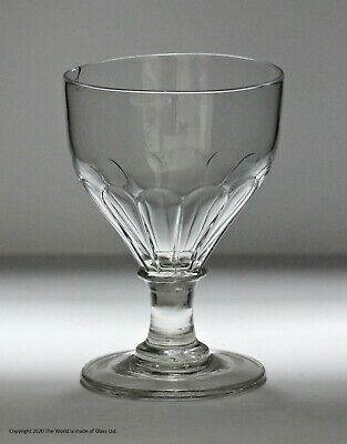 Late Georgian Hand-blown Ovoid Bowl Rummer Glass • 5£