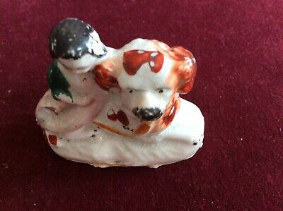 Small Antique Staffordshire Pottery Figure. • 5.40£