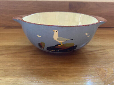Dartmouth Pottery Seagull Bowl With Handles 14cm • 14£