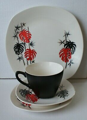 1960's Midwinter, Mambo Pattern,trio And 9  Plate • 5.50£