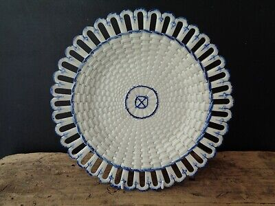 Early Antique Wedgwood Pearlware, Mared Pattern, Ribbon Basket Plate Or Stand • 9.99£