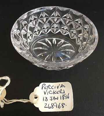 Rare Victorian Open Pressed Glass Salt By Percival Vickers Rd 268968 C1896 • 7.99£