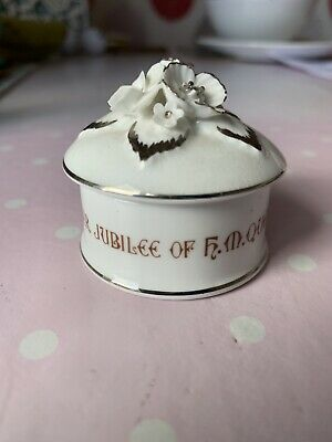 Small Crown Staffordshire Bone China Silver Jubille Pot With Lid • 0.99£