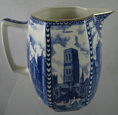Vintage - RINGTONS TEA - Cathedral Jug - Wade Pottery - Blue  And White  15.5 Cm • 12£