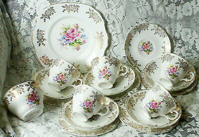 Mid Century Fine Bone China Prince William Rose Pattern Tea Set 18 Pieces  • 30£