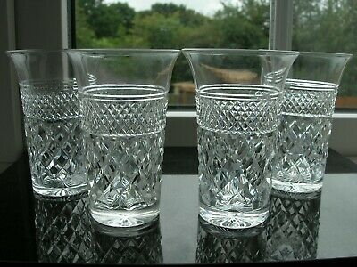 Webb - Russell  Cut - Four Small Tumblers -  Mid Century  • 40£
