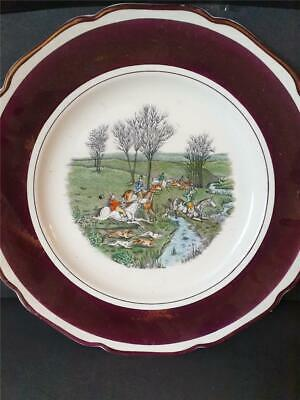 1933-50 Grays Pottery Hand Painted Fox Hunting 10  Plate. Lustre Border A8834 • 16.24£