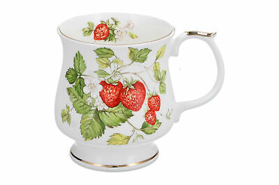 A Queens Fine Bone China Strawberry Mug • 9.95£