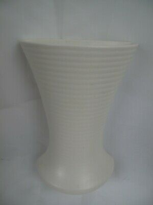 White Vintage Wall Pocket Ceramic Vase Vulcan Ware Made In England  • 28£