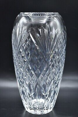Tall Crystal Glass Vase ~ 1st Quality • 19.99£