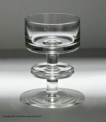 Wedgwood Glass Sheringham Candlestick, 1 Disk, Clear, RSW13/1 • 25£