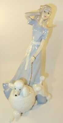 Royal Doulton Reflections 12  Figurine HN 3120 Spring Walk Lady & Poodle • 44.99£