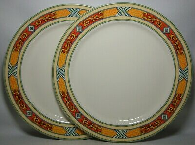2 X VILLEROY & BOCH VAVRO ~ AMANTI 11 3/8  DINNER PLATES IN EXCELLENT CONDITION • 29.50£