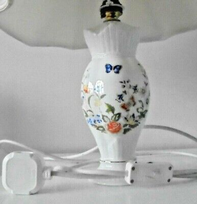Aynsley Cottage Garden Lamp Shade Base With Lead (Height Of Base 8.25 )  • 0.99£