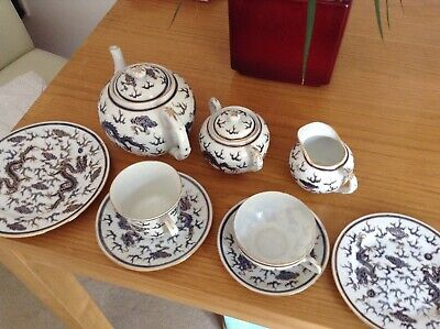 AHChow / ACF Hand Painted Chinese Porcelain Blue & White Tea And Coffee Set • 95£