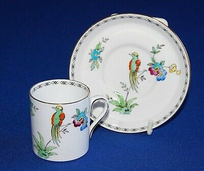 Art Deco Plant Tuscan Bird & Floral Pattern Coffee Cup & Saucer, Qty Available.  • 8.99£