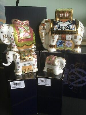 Royal Crown Derby Goviers Limited Edition Elephant Family • 495£