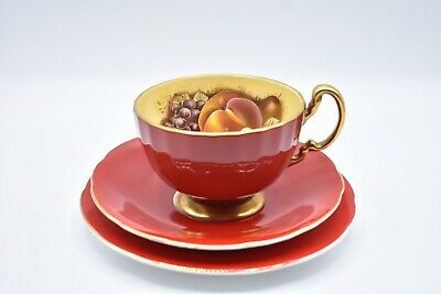 Aynsley Orchard Fruit ~ Cup With Delphine Saucer & Side Plate • 5£