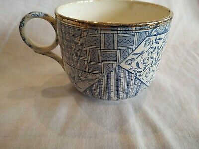 Vintage Large Blue And White Cup • 4.99£