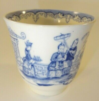 Antique Early 19th C Blue & White Chinoiserie Chinese Footed Tea Bowl  • 19.99£