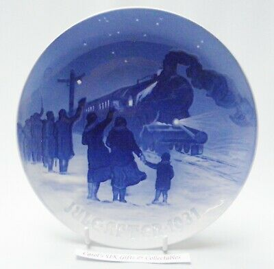 Bing & Grondahl Christmas Plate 1931 Arrival Of The Train • 29.99£