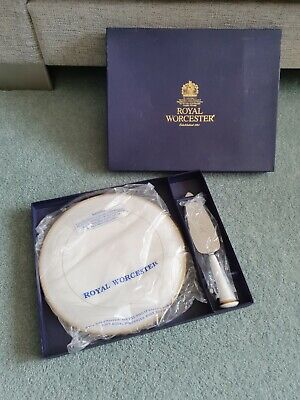 Royal Worcester Viceroy Gold Serving Cake Plate And Knife. Boxed • 3.50£