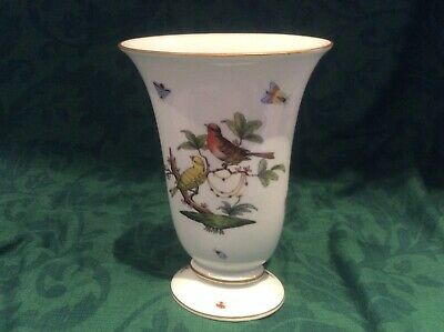 Herend Handpainted Rothschild Patterned Vase 20 Cms In Perfect Condition  • 90£