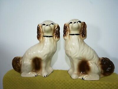 Wally Dog Pair Medium Size Spaniels • 20£