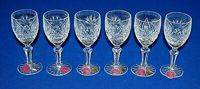Thomas Webb Crystal Set 6 Continental Sherry, Aperitif Glasses. 13.75cms.  • 29.99£