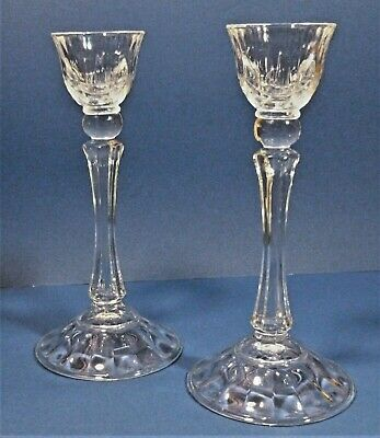 Stunning Pair Of Crystal Glass Candlesticks 9 Inches Tall Taper Candles Classic  • 22.99£