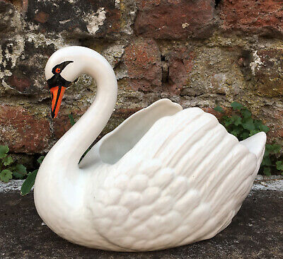 Vintage Swan Planter Plant Pot Jardiniere China Ceramic Arthur Wood 1950s Large • 20£