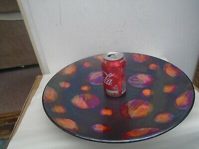 Impressive Very Large POOLE Pottery Iridescent METALLIC GALAXY Charger  WOW LOOK • 10.01£