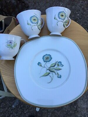 Susie Cooper Katina Sandwich Plate And 2 Cups... • 18£