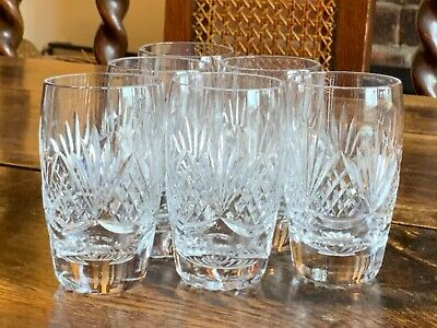Lovely Set Of Six Tutbury Crystal Cut Glass Whiskey Neat Tumblers • 36£