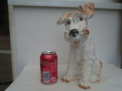Charming Very Large Terrier Dog Statue With Adorable Eyes   SYLVAC INTEREST?   • 0.99£