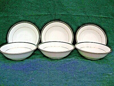 6 Piece Boots Hanover Green Pattern CERIAL BOWLS   Excellent Used Condition • 17.99£