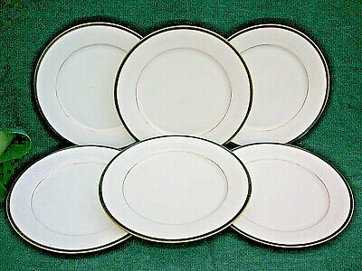 6 Piece Boots Hanover Green Pattern DINNER PLATES   Excellent Used Condition • 32.99£