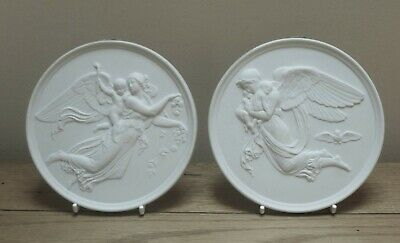 Pair Of Bing And Grondahl Parian Wall Plaques Day And Night  • 24.99£