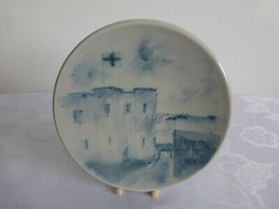 Rare Iden, Rye Pottery 12 Cms Pin Dish. Hand Painted Picture, 1989. Beautiful. • 28£