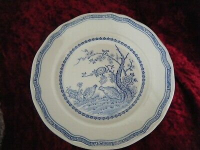 1 Furnivals Quail 7.5   Luncheon Salad Side Bread Cake Side Plate Blue White  • 5£