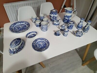 Spode Blue Italian Set (1816) • 102£