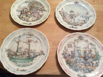 Classic Royal Doulton The Owl And The Pussycat Decorative Collector Plates x4 • 10£