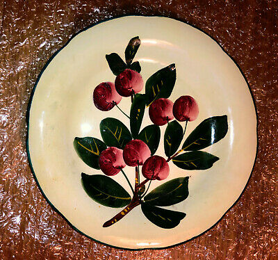 Scottish Wemyss Gordon Dessert Plate - Cherries • 40£